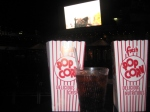 Popcorn during movie at Seaside Theatre