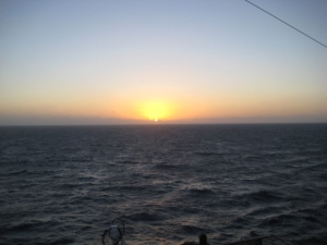 Beautiful sunrise at sea!