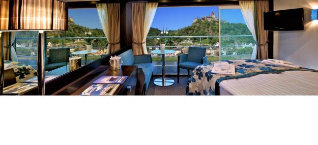 Avalon Panoramic stateroom view